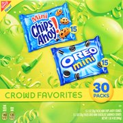 Nabisco Mini Chips Ahoy! & Oreo Mini Crowd Favorites Varity Pack, 1 Oz., 30 Count