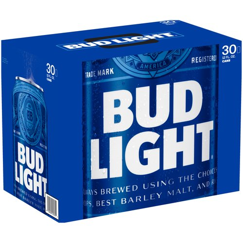 Bud Light Beer, 30 pack, 12 fl oz