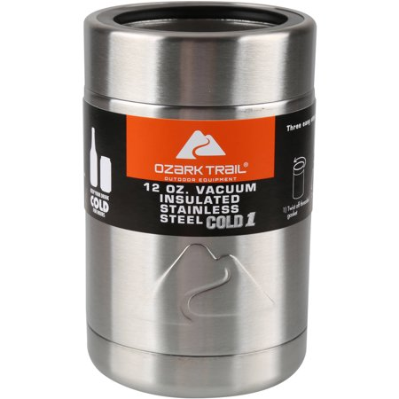 Ozark Trail 12-Ounce Vacuum Insulated Can Cooler with Metal