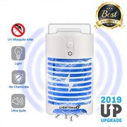2019 NEW UPGRADED Indoor Plug-in Bug Zapper - Mosquito Trap with UV Light - Indoor Mosquito Killer - Electric Insect Repellent - Gnat Trap for Mosquitoes Fruit Flies and Flying Gnats