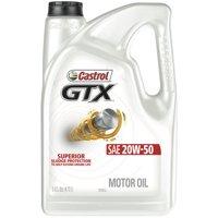Castrol GTX 20W-50 Conventional Motor Oil, 5 QT