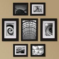 Create a Gallery Snapshot 7-Piece Black Frame Set