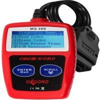OxGord OBD2 Scanner OBDII Code Reader - Scan Tool for Check Engine Light - MS309 Universal Diagnostic for Car, SUV, Truck and Van