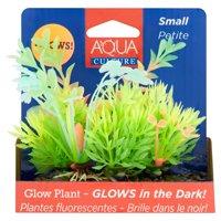 Aqua Culture Small Aquarium Plant Decoration, Small, Glow in the Dark