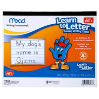 """(2 Pack) Mead Learn to Letter Primary Writing Tablet, 10"""" x 8"""" (48077)"""