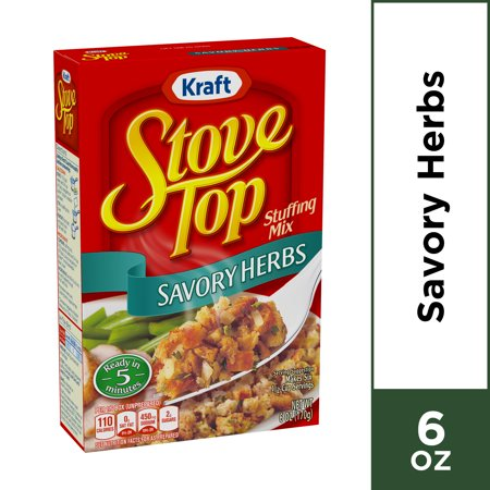Kraft Stove Top Savory Herbs Stuffing Mix, 6 oz (Mushroom Stuffing)