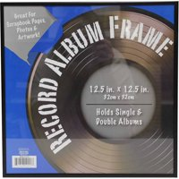 12x12 Metal Record Frame, Black