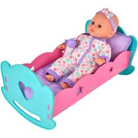 """My Sweet Love 12"""" Baby Doll & Rocking Crib with Sound, Designed for Ages 3 and Up"""