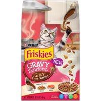 (2 Pack) Purina Friskies Gravy Swirlers Adult Dry Cat Food, 3.15 lb