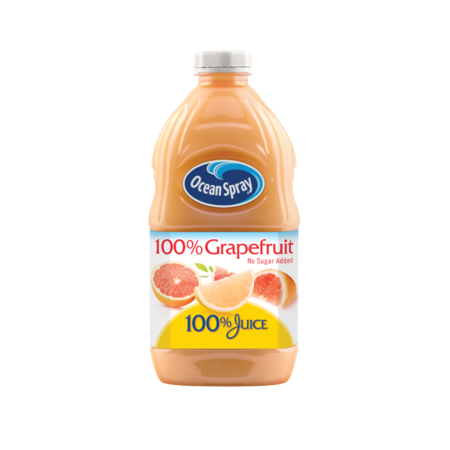 (2 Pack) Ocean Spray 100% Juice, Grapefruit, 60 Fl Oz, 1 Count (Grape Fruit Juice Concentrate)