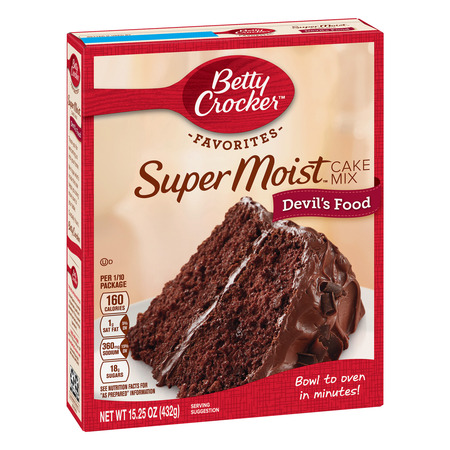 (2 pack) Betty Crocker Super Moist Devil's Food Cake Mix, 15.25 oz