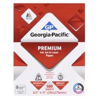 "Georgia-Pacific Premium Inkjet and Laser Paper, 8.5"" x 11"",  24 lb, 92 Brightness, 500 Sheets"