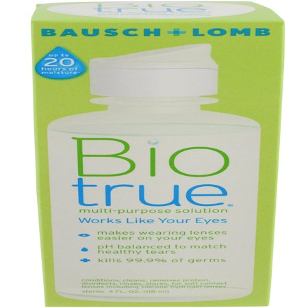 Bausch & Lomb Biotrue For Soft Contact Lenses Multi-Purpose Solution, 4 oz](Colored Contact Lens For Halloween)