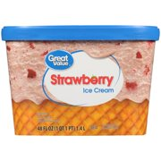 Great Value Strawberry Ice Cream, 48 oz