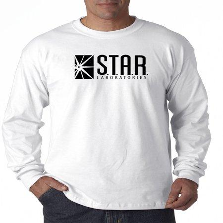 - New Way 1171 - Unisex Long-Sleeve T-Shirt Star Laboratories Labs Comic Hero Medium White