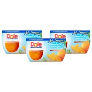 (12 Cups) Dole Fruit Bowls No Sugar Added Mandarin Oranges, 4 oz cups
