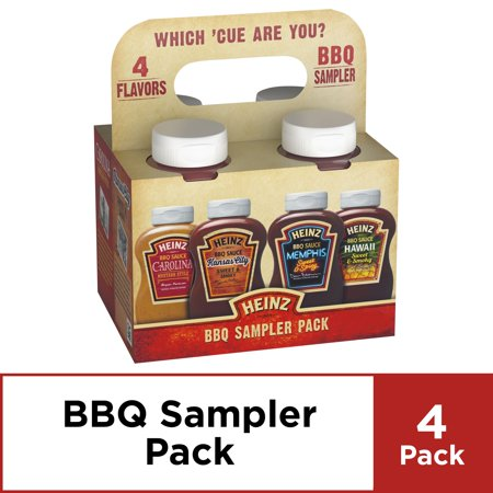 Barbecue Sauce - Heinz BBQ Sampler Pack, 4 ct - 45.5 oz Package
