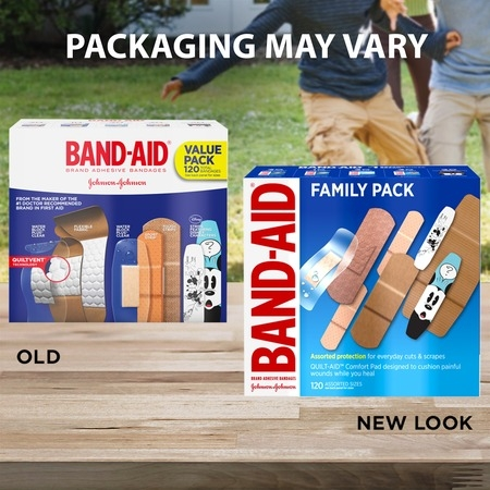 Band-Aid Brand Adhesive Bandage Family Variety Pack, Assorted Sizes, 120 ct (Halloween Band Aids)