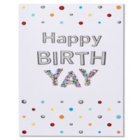 American Greetings Happy Birth-Yay Birthday Card with Foil
