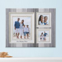 Personalized Weathered Stripe Photo Canvas, Available in 2 Sizes