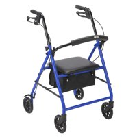 "Drive Medical Rollator Rolling Walker with 6"" Wheels, Blue"
