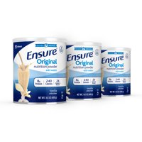 Ensure Original Nutrition Powder Vanilla for Meal Replacement 14.1 oz Cans (3 Total)