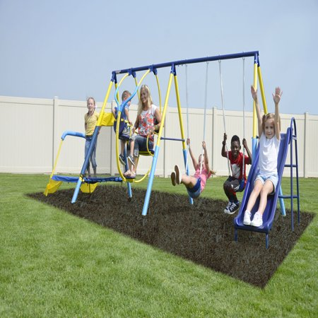 Sportspower Ridgewood Me And My Toddler Metal Swing Set Walmart Com