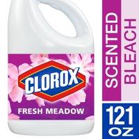 Clorox Liquid Bleach, Fresh Meadow Scent, 121 oz Bottle