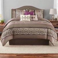 Mainstays Multi Stripe 7-Piece Jacquard Comforter Set, King