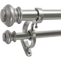 """Decopolitan 1"""" Urn Adjustable Double Curtain Rod Set"""