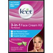Veet 3-in-1 Face Cream Kit Hair Remover
