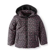 906d8f29e Foil Heart Print Puffer Jacket with Hood (Little Girls & Big Girls)