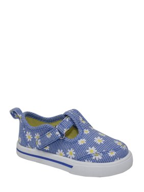 Wonder Nation Infant Girl Daisy T-strap Casual Shoes