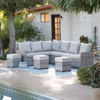 Belham Living Brookville All Weather Outdoor Wicker Sofa Sectional Set