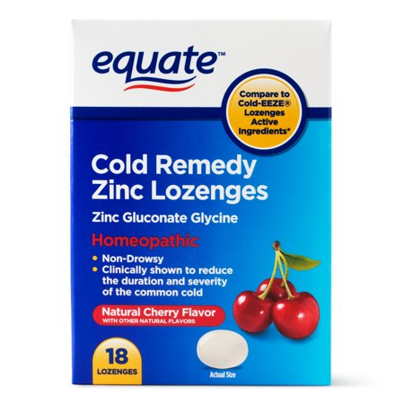 Equate Non Drowsy Allergy Relief Zinc Lozenges 18 Ct Walmart Com