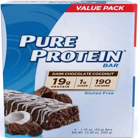Pure Protein Bar, Dark Chocolate Coconut, 19g Protein, 6 Ct