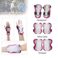 CoastaCloud 6PCS Wrist Elbow Knee Skateboard Safety Pads for Kid's Children  Boys Girls Protective Gear Outdoors Sports Cycling Blading Roller for Bicycle Gear Guard Skating, Scooter ,Cycle