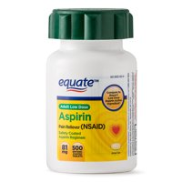 Equate Low Dose Aspirin Enteric Coated Tablets, 81 mg, 500 Ct