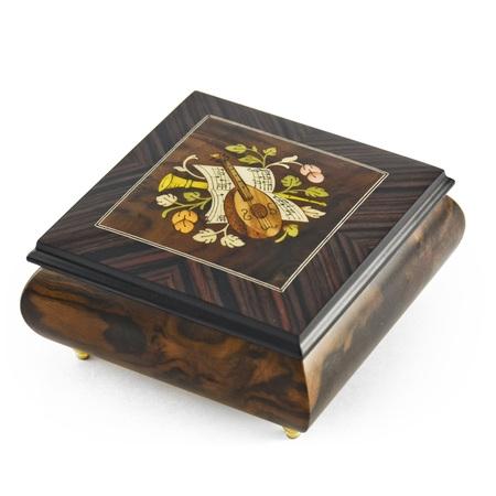 Hand-made 18 Note Italian Jewelry Box with Mandolin Wood
