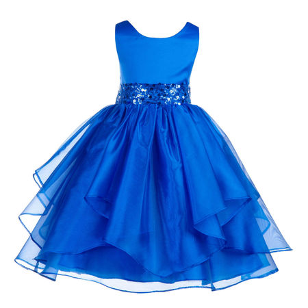Ekidsbridal Asymmetric Ruffled Organza Sequin Flower Girl Dress Weddings Easter Special Occasions Pageant Toddler Birthday Party Holiday Bridal Baptism Junior Bridesmaid Communion 012s](Birthday Dresses For Girls)