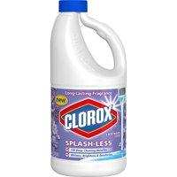 Clorox Splash-Less Liquid Bleach, Lavender Scent, 55 oz. Bottle