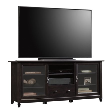 "Sauder Edge Water Entertainment Credenza for TVs up to 55"", Estate Black Finish"