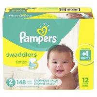 Pampers Swaddlers Diapers Size 2, 148 Count