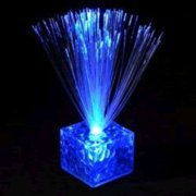 Fiber Optic Centerpiece With Small Clear Blue Base