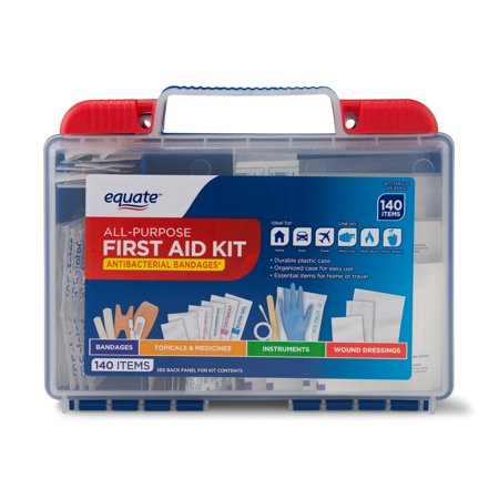 Equate All-Purpose First Aid Kit, 140 Items