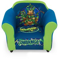 Teenage Mutant Ninja Turtles Kids Upholstered Chair with Sculpted Plastic Frame by Delta Children