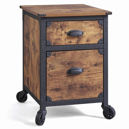 Better Homes & Gardens 2 Drawer Rustic Country File Cabinet, Weathered Pine