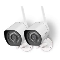 Zmodo 720p HD Outdoor Home Wifi Security Surveillance Video Cameras System (2 Pack), Work with Google Assistant