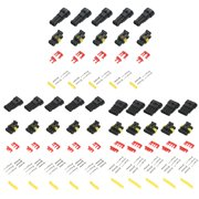 15 kits 2 3 4 pins way sealed waterproof electrical wire connector plug for  car auto