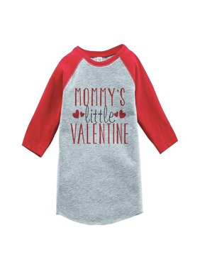 Custom Party Shop Boy's Mommy's Little Valentine Toddler Vintage Baseball Tee - Red / XL Youth (18-20) T-shirt